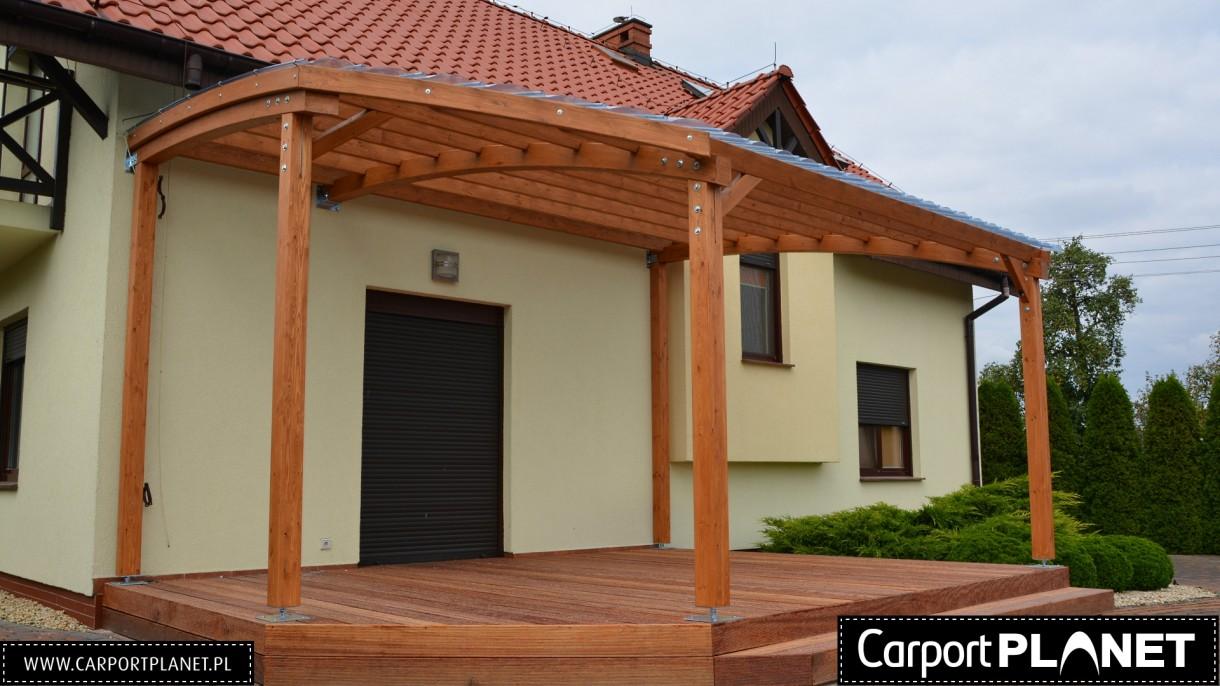 Taras, Zadaszenia pergole drewniane Carport Planet