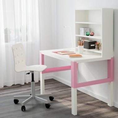 PÅHL - Biurko z półką, biały, różowyCena: 358 PLNhttp://www.ikea.com/pl/pl/catalog/products/S39128979/