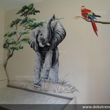 artystyczne malowanie ścian, malowidła ścienne, malunki na ścianie, pokój dziecięcy, pokój dla dziecka, pokój dla dziewczynki, pokój dla chłopca, pokój dla dziewczynki, dekoracja ścian, Słoń, zwierzęta