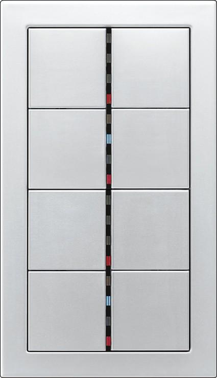 Instalacje, Inteligentny dom KNX - Panel z 8-oma przyciskami, diodami sygnalizacyjnymi, z aluminium.