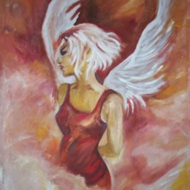 obrazy olejne, anioly, fantastyka