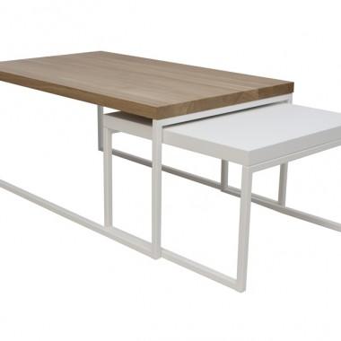 zestaw nowoczesnych, industrialnych stolików kawowych DOBLO