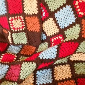 Kwadraty babuni - mój sposób na jesienno-zimowe wieczory:)))