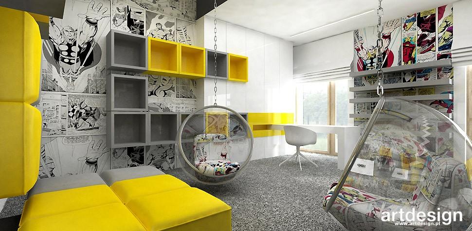 Garderoba, ARTDESIGN PERFORMANCE. Wnętrza domu (cz. 2) - nowoczesny projekt pokoju dziecięcego