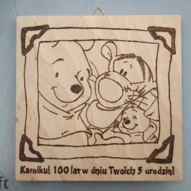 Kubuś Puchatek, Tygrysek i Maleństwo. Tabliczka dla chłopca.