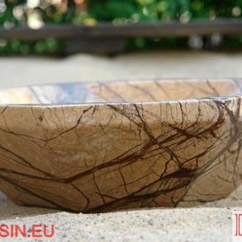 kamienna umywalka z brązowego marmuru Rainforest Brown