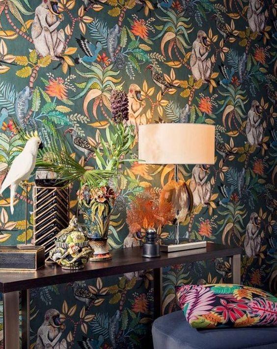 Domy i mieszkania, znowu pobłądziłam... - https://www.etsy.com/listing/583073982/cole-and-son-savuti-wallpaper-cole-and