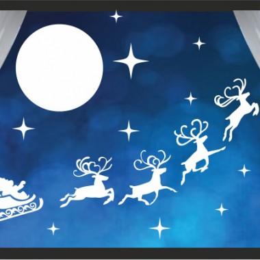 Świąteczna naklejka na ścianę lub okno / NaklejkiOzdobne