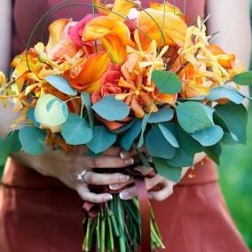 inspiracje - pomarańcz i błękit :)