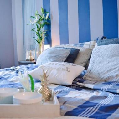 Odświeżona sypialnia.Więcej z wnętrzarskiej metamorfozy na www.mysweetdreaminghome.com