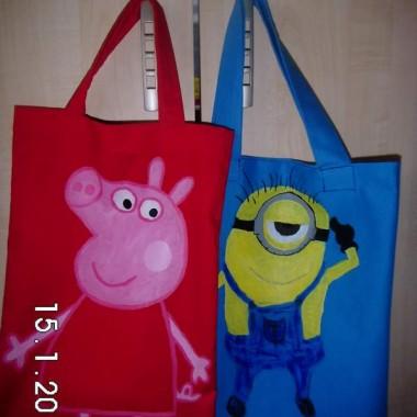 Torby EKO dla moich dzieci malowane recznie :)