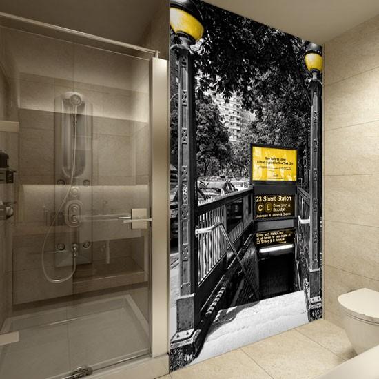 Pozostałe, Dekoracje z Nowym Jorkiem - Wejście do nowojorskiego metra - dekoracja powiększająca optycznie pomieszczenie.