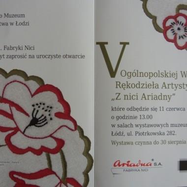 Z nici Ariadny-zaproszenie na wernisaż