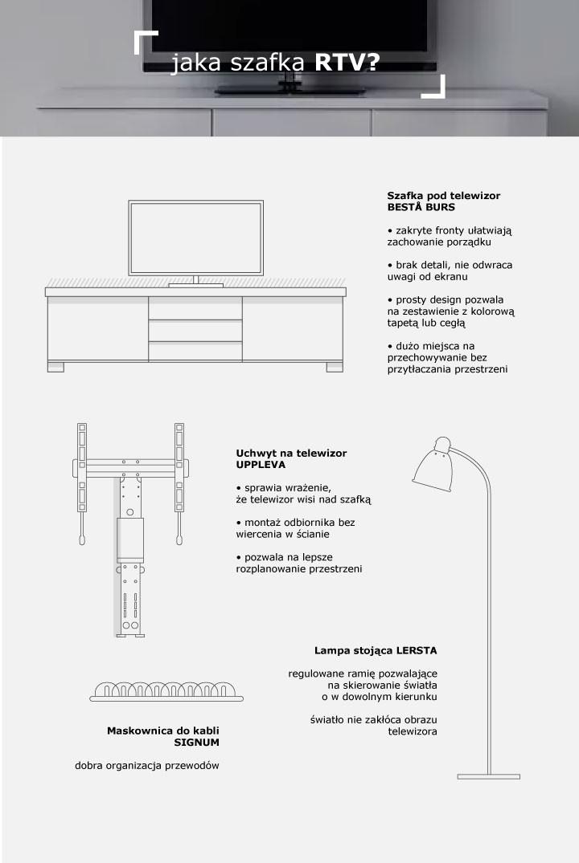 Jak wybrać szafkę rtv – porady, infografika