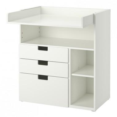 STUVA - Stolik do przewijania, 3 szuflady, białyCena: 544 PLNhttp://www.ikea.com/pl/pl/catalog/products/S89123601/