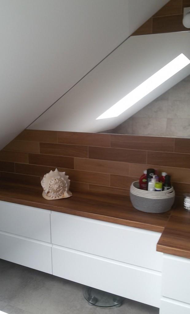 Zdjęcie 55 W Aranżacji Szaro Drewniana łazienka Deccoriapl