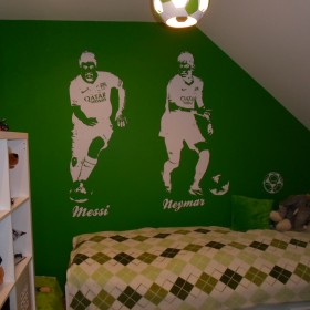 zielony pilkarski pokoj 8 latka