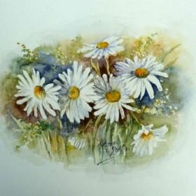 Akwarelki - kwiatki - 2011