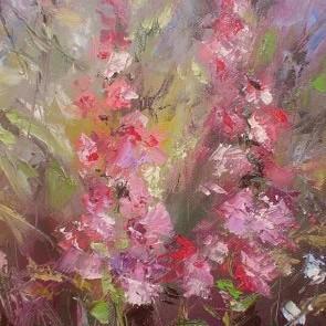 kwiaty w oleju