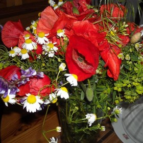 Bukiet polnych kwiatów...i inne dekoracje...