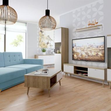 Salon w stylu skandynawskim zawsze zachwyca swą nieskazitelną czystością, jasnym kolorem ścian oraz naturalnymi dodatkami w postaci drewna na podłogach i meblach. Styl scandi uwielbia harmonię, stawia na wygodę i funkcjonalność. Nie bez powodu od lat cieszy się ogromnym zainteresowaniem.