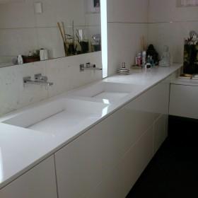 Łazienka luksusowa - umywalka podwójna na wymiar z kompozytu GFK