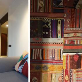 Wnętrze dwupoziomowego mieszkania w Sieradzu