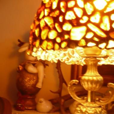 ...........i moja bursztynowa lampa ..............zawsze chciałam taką mieć .............marzenia się spełniają...........