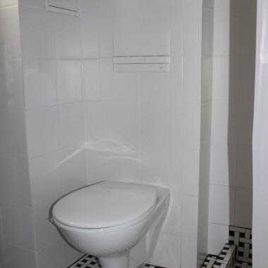 moja biało czarna łazienka