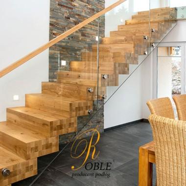 Schody drewniane - realizacje ukończone