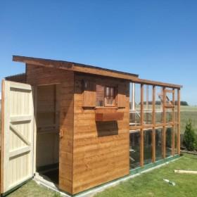 Domek ogrodowy szklarnia