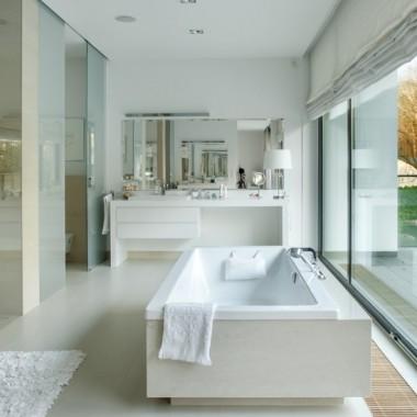 Modne łazienki Zdjęcia nowoczesnych aranżacji dużych łazienienek