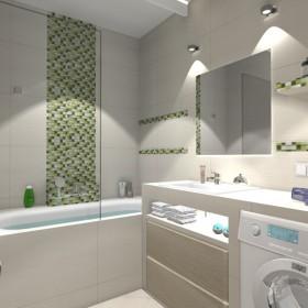 Mała łazienka - trzy wersje kolorystyczne