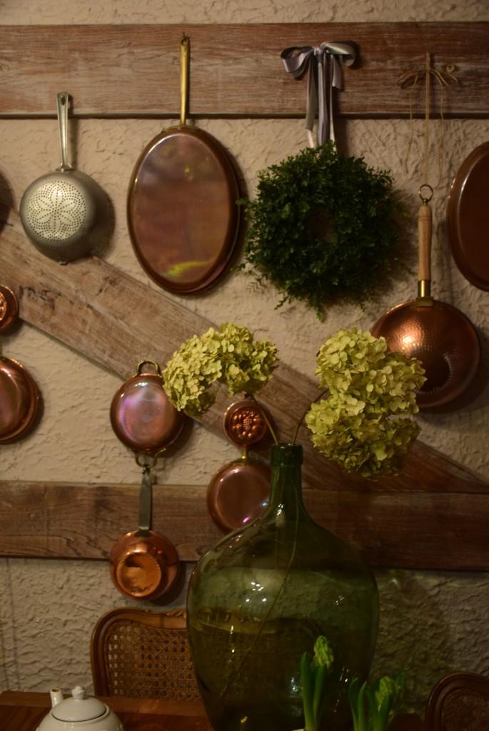 Kuchnia, Dwa hiacynty nie czynią wiosny...ale cieszą oko :) - starociowy durszlak aluminiowy