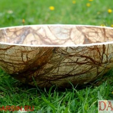 umywalka kamienna z brązowego marmuru, umywalka z kamienia - marmur Rainforest Brown