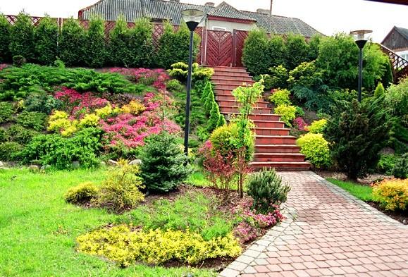 Realizacje, ogród na mazurach