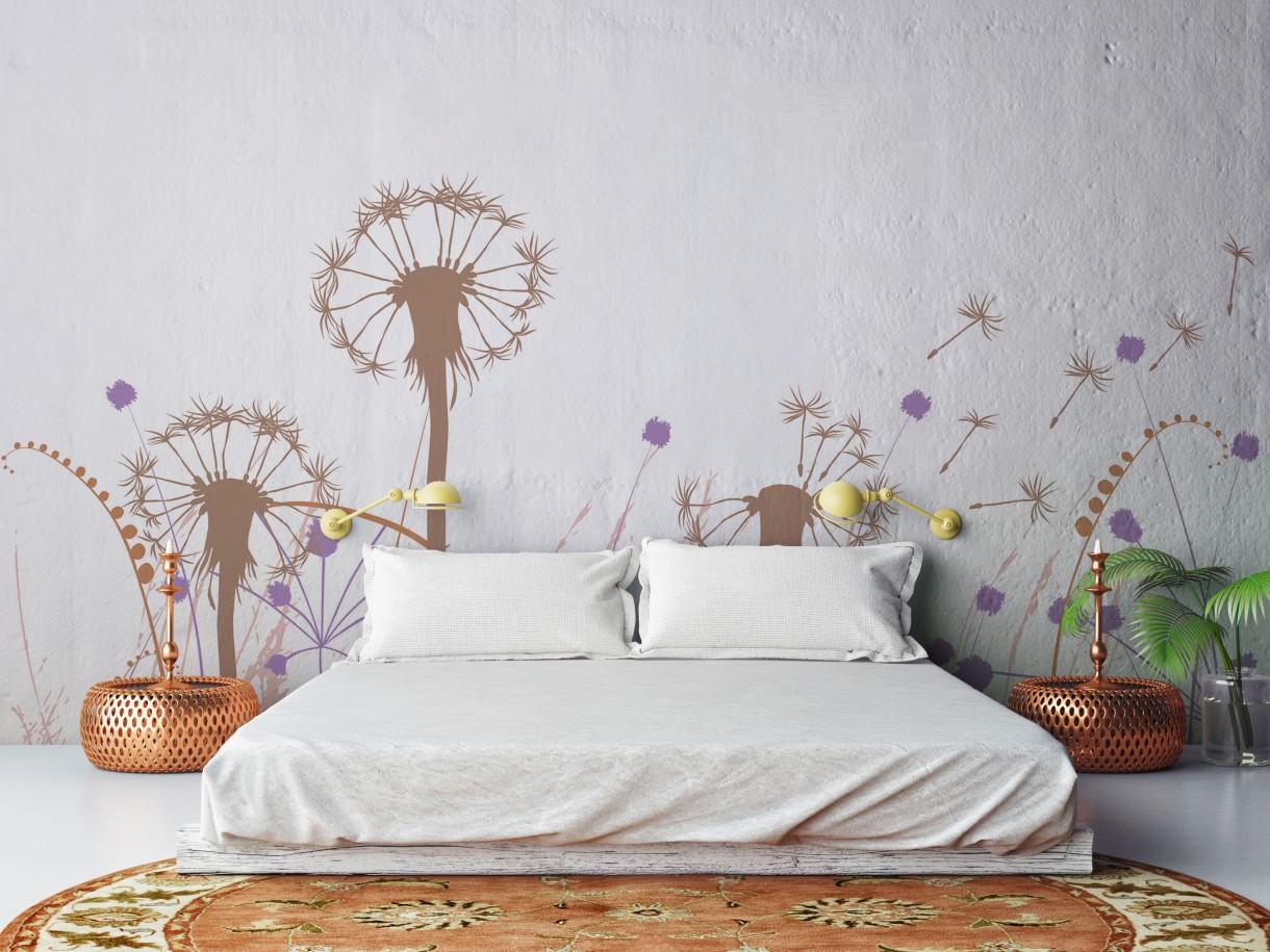 Dekoracje, Dmuchawce, latawce, wiatr... - aranżacja sypialni w naturalnym stylu