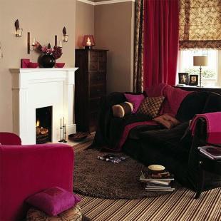 Salon, Wnętrza w brązach- inspiracje