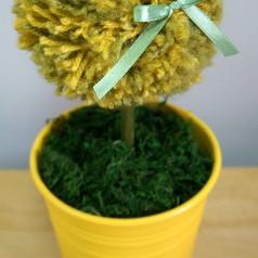 Wiosenne inspiracje Drzewko z włóczki