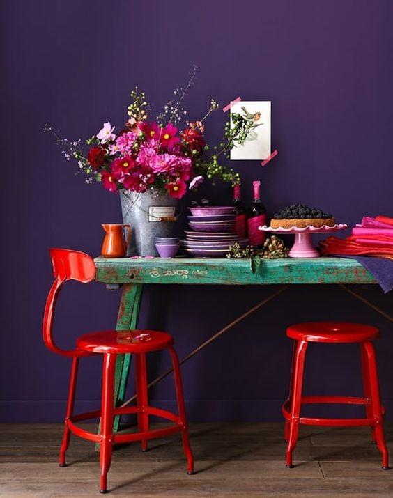Salon, violet