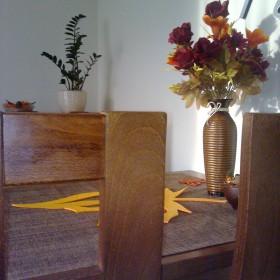 jesienny salon w świetle dziennym
