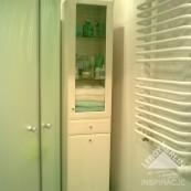 Mikro łazienka w bloku (140cmx200cm) w chłodnych barwach
