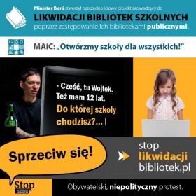 STOP likwidacji bibliotek