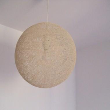 Nowy zyrandol - cotton ball od Kasi