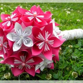 różowa kusudama :)