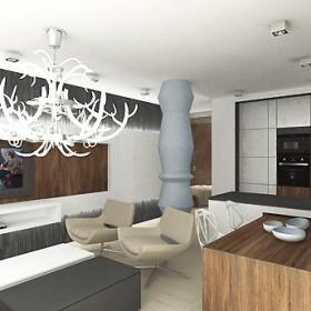 wnętrza luksusowego mieszkania