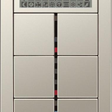 Panel z 6-cioma przyciskami, diodami sygnalizacyjnymi, wyświetlaczem LCD, termostatem, ze stali nierdzewnej.