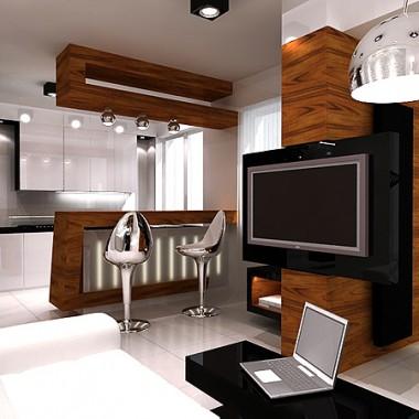 aranżacja wnętrza nowoczesnego apartamentu