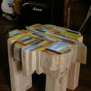 Stolik -siedzisko wg wyobraźni