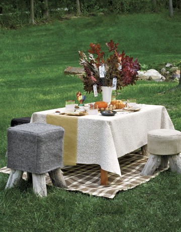 Zrób to sam, Country Living, jesienny stol